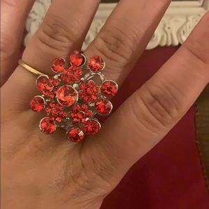 Red sizable ring